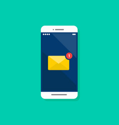 email notification on smartphone vector image