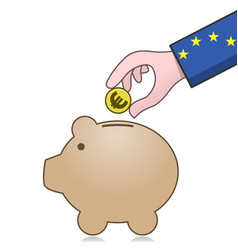 European union economy and savings vector