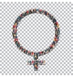 female symbol isometrick people 3d vector image
