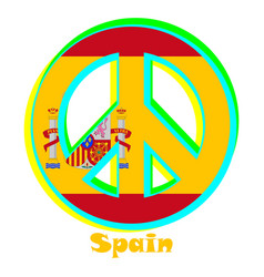 Flag of spain as a sign of pacifism vector
