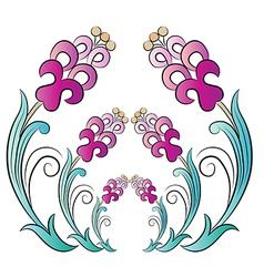 Flowers in the ottoman art three vector