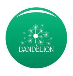 Fluffy dandelion logo icon green vector