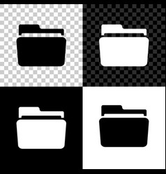 folder icon isolated on black white and vector image