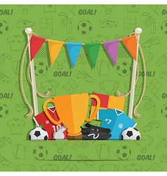 Football decoration vector