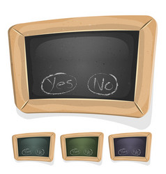 Funny blackboard sign for ui game vector