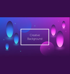 futuristic background with colorful shapes vector image