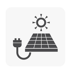 green energy icon on white vector image