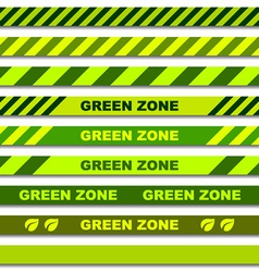 Green zone seamless caution tapes vector