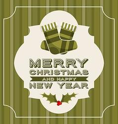 Happy merry christmas vector