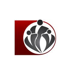 Human community logo template icon design vector