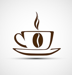 Icons to a cup of coffee vector