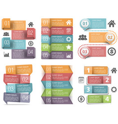 Infographic Elements with Numbers vector