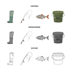 Isolated object of fish and fishing logo vector