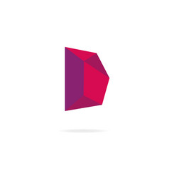 Letter d logo design template elements vector