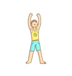 Man Doing Sun Salutation Yoga Asana vector image