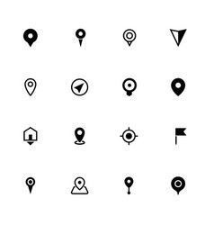 map location icons collection symbol for apps vector image