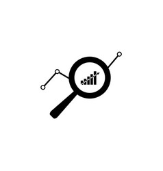 market research icon black on white background vector image