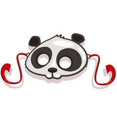 masks animals for kids party panda icon vector image