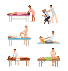 massage procedure people beauty spa healthy vector image