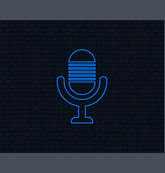 Microphone icon speaker symbol live music sign vector