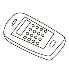 Mobile phone icon outline style vector image