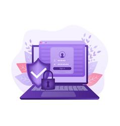 Network security antivirus vpn privacy user icon vector