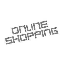 online shopping rubber stamp vector image