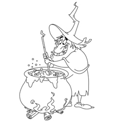 Outlined witch brew vector