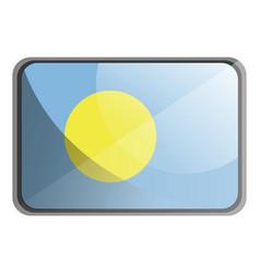 palau flag on white background vector image