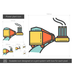Power plant line icon vector