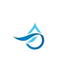 Premium Pure water abstract sign vector image