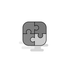 puzzle game web icon flat line filled gray icon vector image