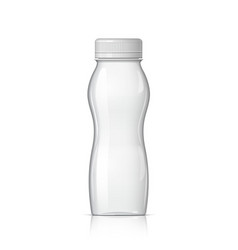 realistic plastic bottle for yogurt vector image