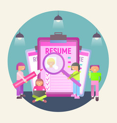 recruitment agency vector image