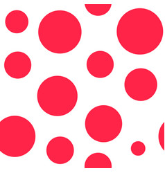 red circle abstract seamless pattern sketch vector image