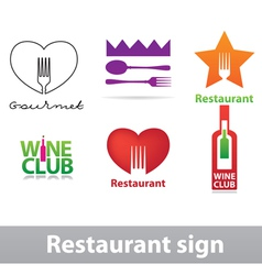 Restaurant sign vector