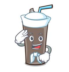 Sailor ice chocolate character cartoon vector
