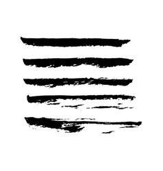 set hand drawn smears vector image