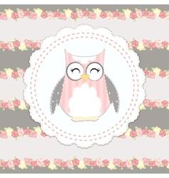 shabby chic owl vector image
