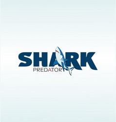 Shark predator logo emblem vector