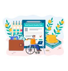 Social security disability claim form vector
