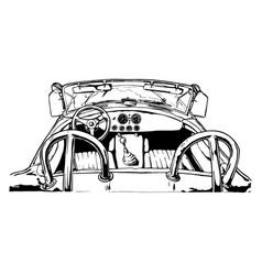 sport car interior vector image vector image