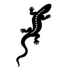 stylized lizard black white reptile vector image