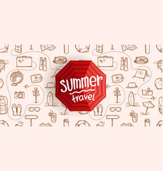 summer travel vintage style concept composition vector image