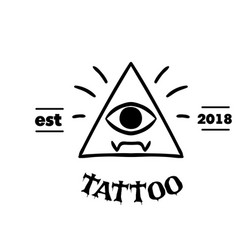 tattoo triangle frame the eye background im vector image