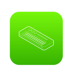 toy synthesizer icon green vector image