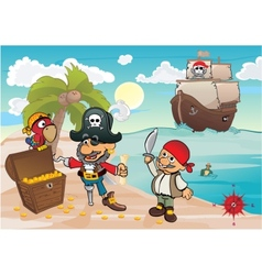 Treasure island vector image