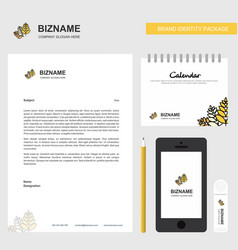 wheat business letterhead calendar 2019 and vector image