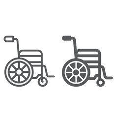 wheelchair line and glyph icon medical a vector image