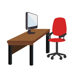 Workplace accesories flat icons vector